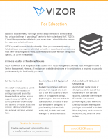 Features in VIZOR that benefit IT in Education