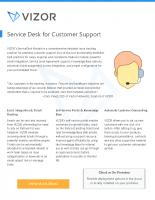 ServiceDesk Module – Customer Support