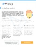 ServiceDesk Module – 2018