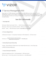 ROI with IT Service Management
