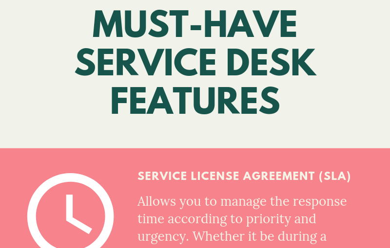 Must-Have Service Desk Features – Infographic