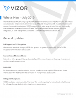 What's New – Summer 2019