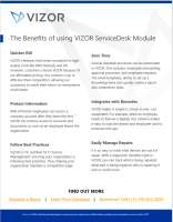 VIZOR – Benefits of the ServiceDesk Module