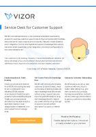 VIZOR ServiceDesk for Customer Support Summary
