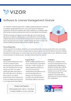 VIZOR Software License Management Summary