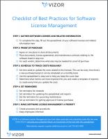 Checklist of 5 Best Software License Management Practices
