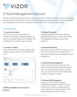 IT Asset Management Features – VIZOR – 2021