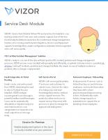 VIZOR – ServiceDesk Features – 2021