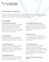 ServiceDesk Features – VIZOR – 2021