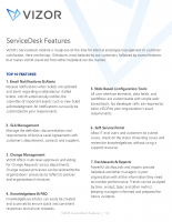 Top ServiceDesk Features – 2021