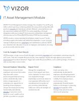 VIZOR – IT Asset Management Module – 2021