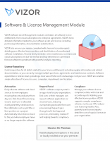 VIZOR – Software & License Management Module